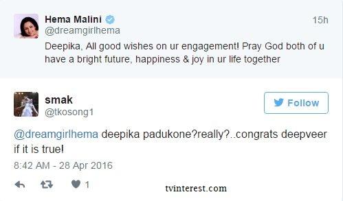 Hema Malini congrats Deepika for her engagement |Silly mistake by Hema Malini